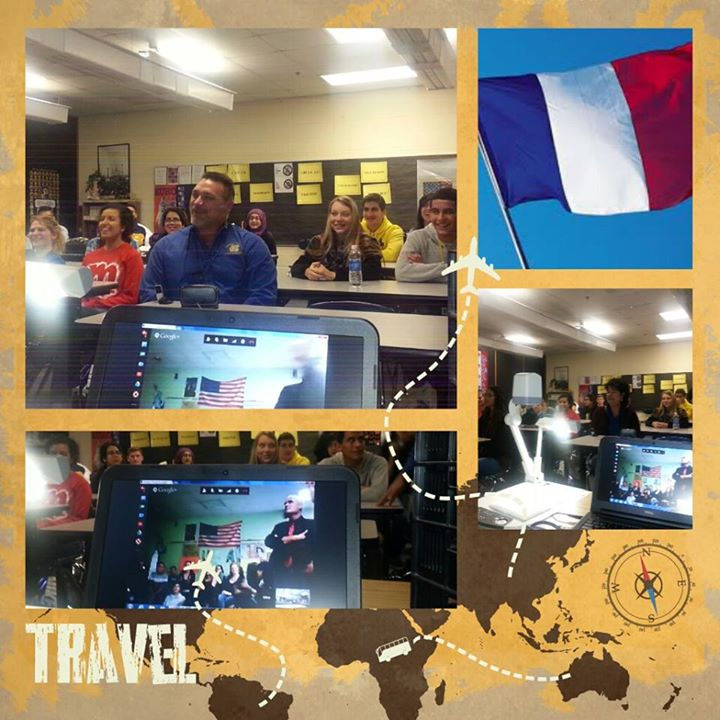 Mr. Diop's French Classes go International
