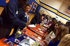 Upperclassmen attend College Fair