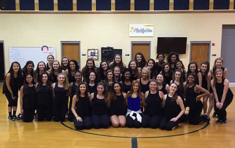 Drill Team dances with Dallas Cowboy Cheerleader