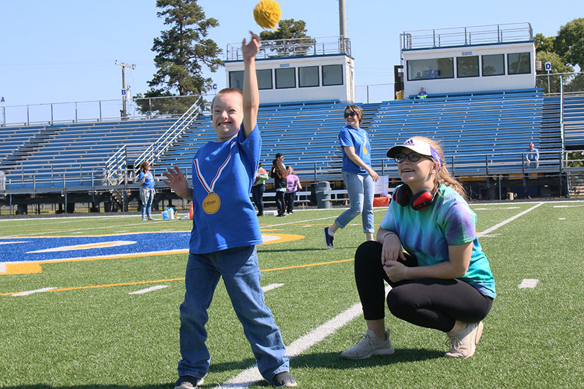 Special Education participates in 2nd annual field day