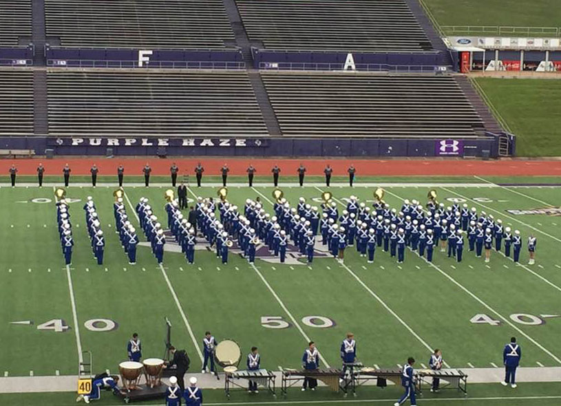 Marching Band makes history