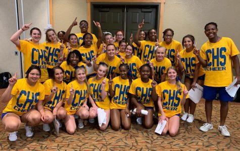 Cheerleaders win at camp
