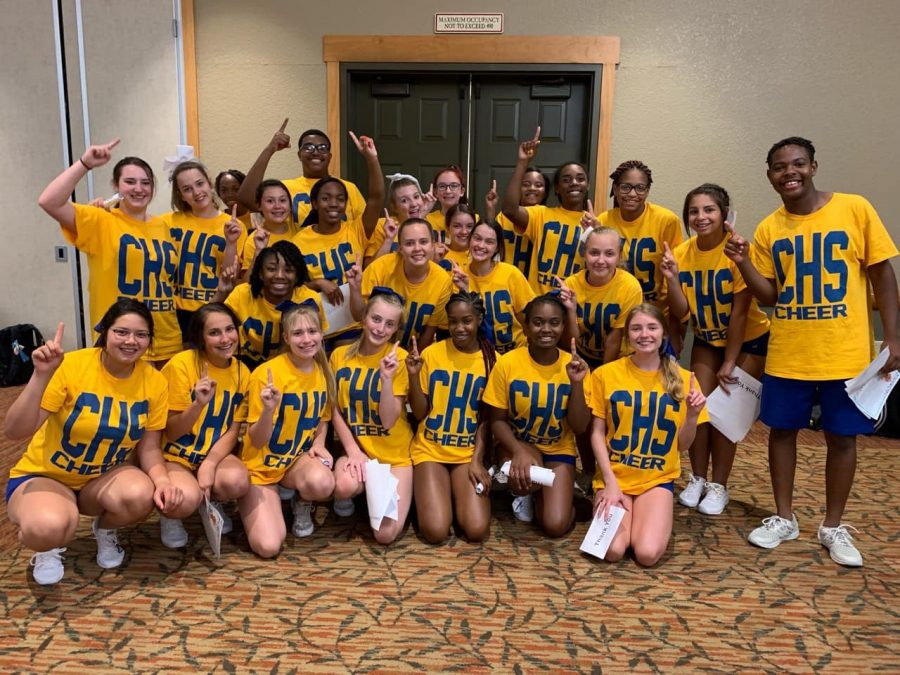 Cheerleaders win at camp