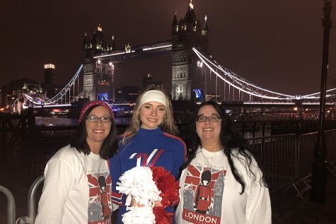 All-American Cheerleader marches in London parade