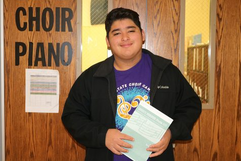 Choir student makes history
